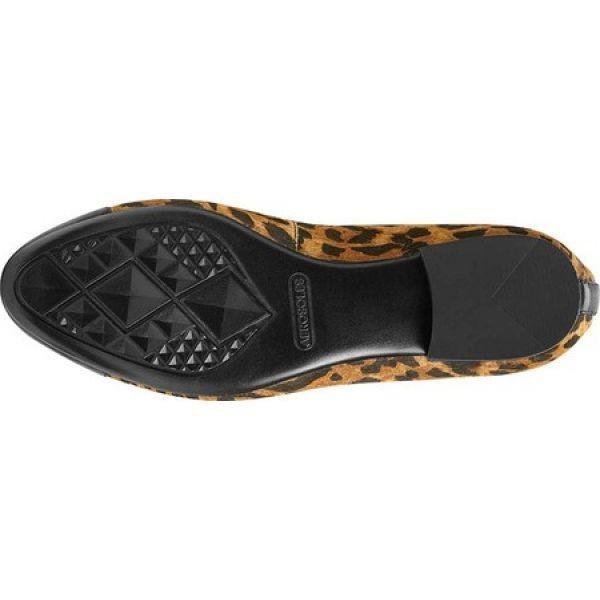 エアロソールズ Aerosoles レディース スリッポン・フラット シューズ・靴 Outrun Cap Toe Flat Leopard Combo Leather