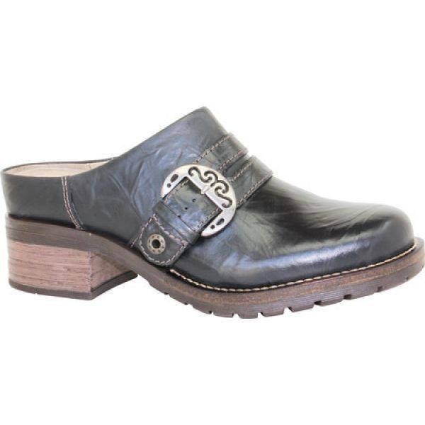 ドロミダリス レディース クロッグ シューズ・靴 Karina Low Cut Clog Black Leather