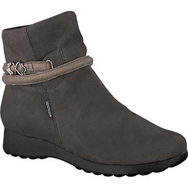 メフィスト Mephisto レディース ブーツ シューズ・靴 Azzura Bootie Grey Bucksoft/Dark Taupe Fashion