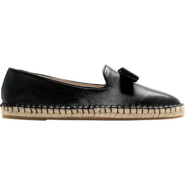 コールハーン レディース エスパドリーユ シューズ・靴 Tali Bow Espadrille Black Leather