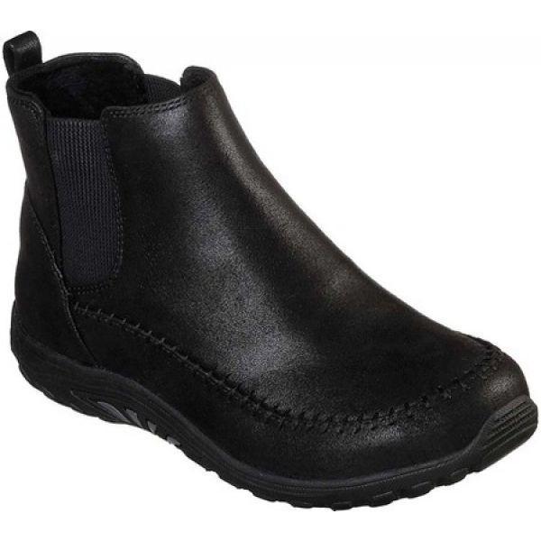 スケッチャーズ Skechers レディース ブーツ シューズ・靴 Relaxed Fit Reggae Fest Campout Ankle Boot Black|fermart-shoes