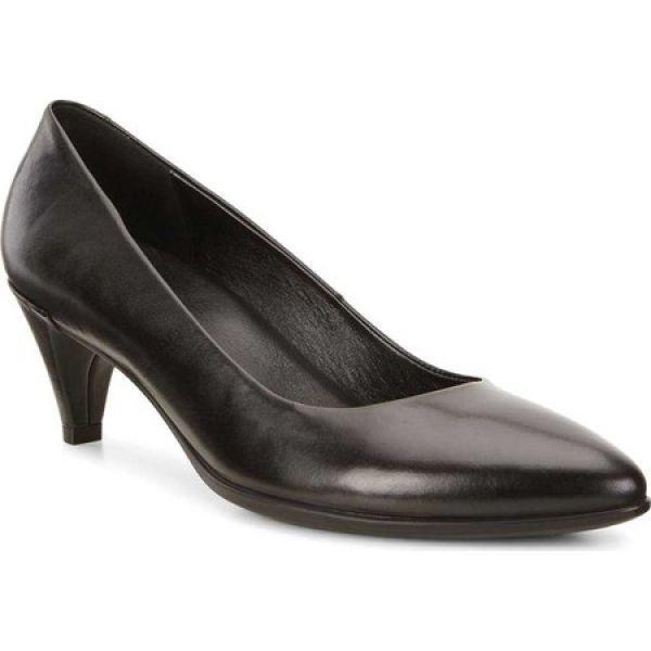 エコー ECCO レディース パンプス シューズ・靴 Shape 45 Pointy Sleek Pump Black Calf Nubuck/Cow Leather