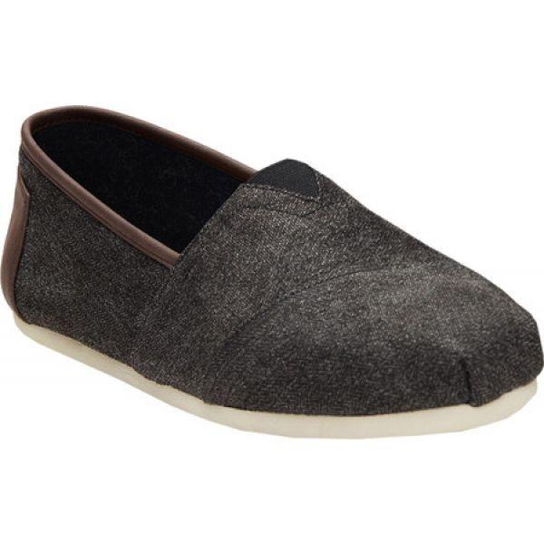 46cded7bfa92 フェルマート fermart シューズトムス TOMS メンズ スリッポン・フラット シューズ・靴 Classic Alpargata Slip-On  Shoe Charcoal Herringbone Canvas