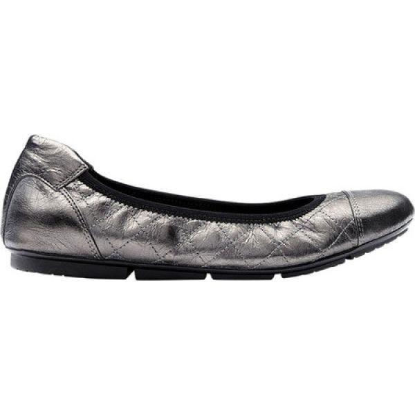 バイオニック ウィズ オーサヒール レディース スリッポン・フラット シューズ・靴 Ava Ballet Flat Pewter Leather