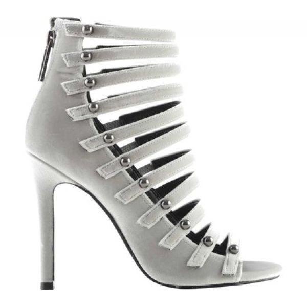 ケンダル&カイリー レディース ヒール シューズ・靴 Giaa Multi-Strap Stiletto Silver Textile