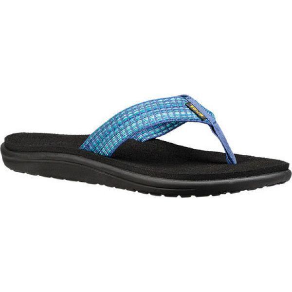 テバ レディース ビーチサンダル シューズ・靴 Voya Flip Flop Bar Street Multi Blue Textile