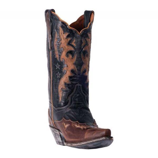 ダンポスト レディース ブーツ シューズ・靴 Amelia Cowgirl Boot DP3742 Chocolate/Tan Leather