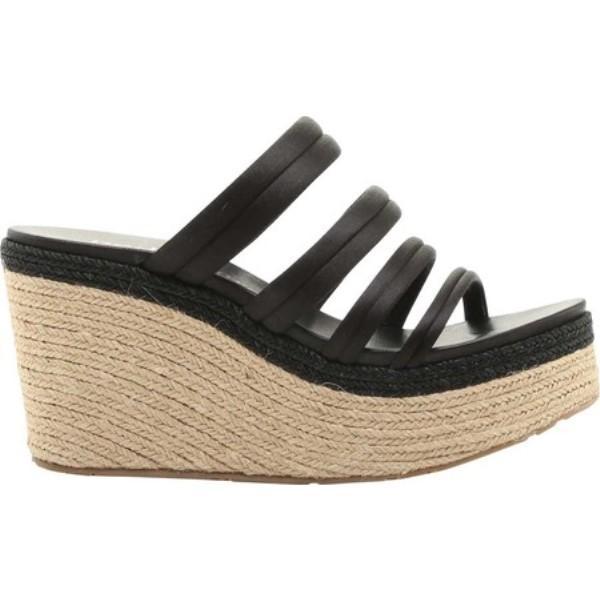 ペドロ ガルシア レディース エスパドリーユ シューズ・靴 Dante Satin Espadrille Wedge Sandal Black Satin