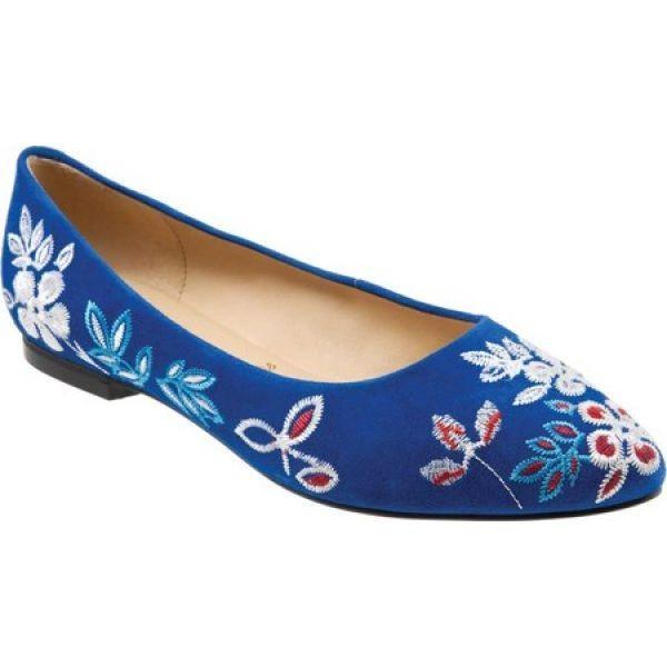 トロッターズ Trotters レディース シューズ・靴 Estee Blue Embroidered Suede Leather