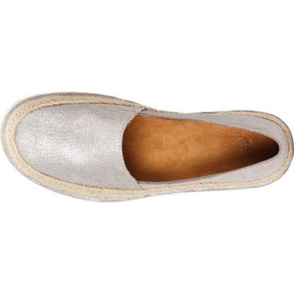 アリアト レディース エスパドリーユ シューズ・靴 Cruiser Espadrille Sparkling Silver Metallic Leather