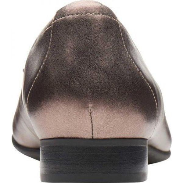 クラークス Clarks レディース スリッポン・フラット シューズ・靴 Un Blush Cap Ballet Flat Pebble Metallic Leather
