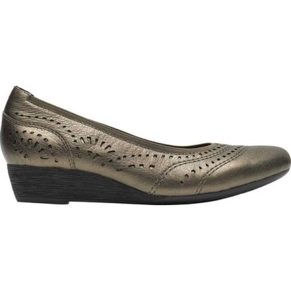 ロックポート レディース パンプス シューズ・靴 Cobb Hill Judson Perf Pump Metallic Full Grain Leather