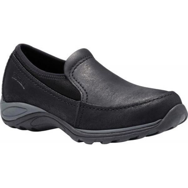 イーストランド Eastland レディース スリッポン・フラット シューズ・靴 Sylvia Slip On Black Tumbled Synthetic