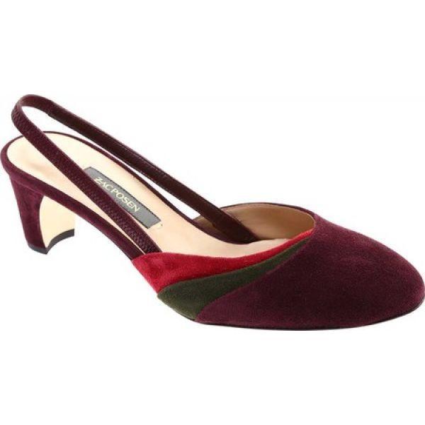 ザック ポーゼン レディース サンダル・ミュール シューズ・靴 Cindy Slingback Maroon Suede