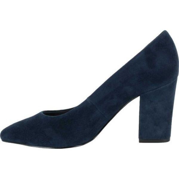 ベラヴィータ Bella Vita レディース パンプス シューズ・靴 Gigi Pump Navy Kid Suede Leather