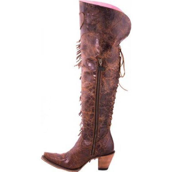 ジャンクジプシー Junk Gypsy by Lane レディース ブーツ シューズ・靴 Spirit Animal Over the Knee Western Boot Brown Calf Leather