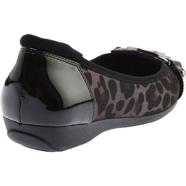 アン クライン レディース スリッポン・フラット シューズ・靴 Umeko Ballet Flat Taupe Black Multi Fabric