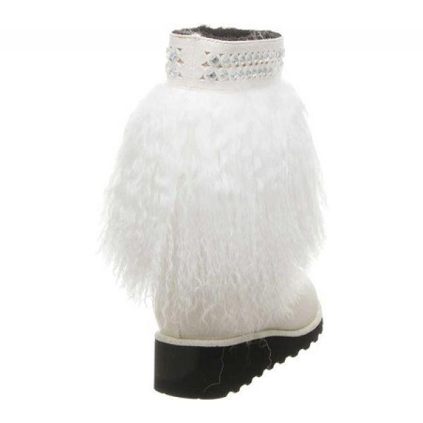 ベアパウ Bearpaw レディース ブーツ シューズ・靴 Elise Mid Calf Boot White Lambskin