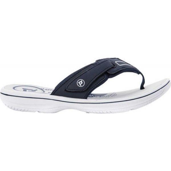 プロペット Propet レディース ビーチサンダル シューズ・靴 Edie Thong Sandal Navy Microfiber