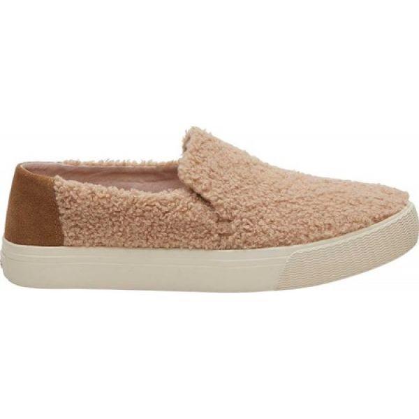 トムス TOMS レディース スリッポン・フラット シューズ・靴 Sunset Slip-On Sneaker Light Brown Faux Shearling/Suede