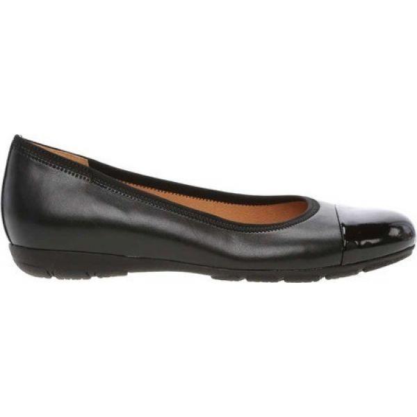 ガボール Gabor レディース スリッポン・フラット シューズ・靴 94-161 Ballerina Flat Black Hi-Tech