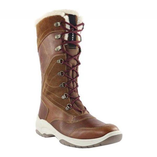 サンタナカナダ Santana Canada レディース ブーツ シューズ・靴 Topspeed Luxe Tall Waterproof Boot Cognac Leather