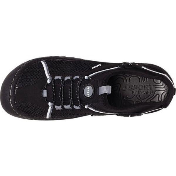 ジャンブー Jambu レディース スリッポン・フラット シューズ・靴 JBU Tahoe Max Vegan Slip On Black/White Mesh/Microbuck/Neoprene