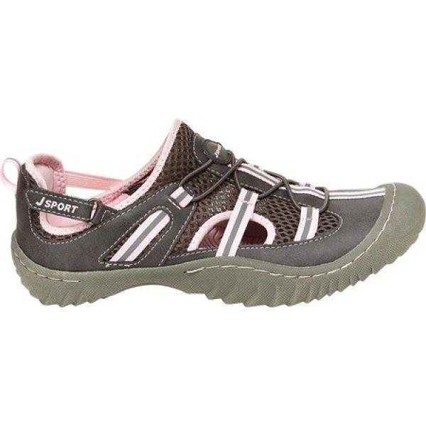 ジャンブー Jambu レディース スリッポン・フラット シューズ・靴 JSport Bleeker Slip On Charcoal/Pink Vintage Vegan Leather/Mesh