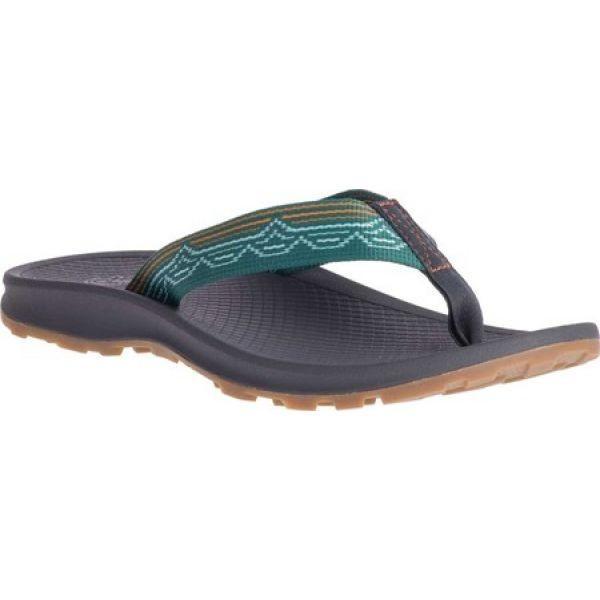チャコ Chaco レディース ビーチサンダル シューズ・靴 Playa Pro Web Vegan Flip Flop Blip Teal