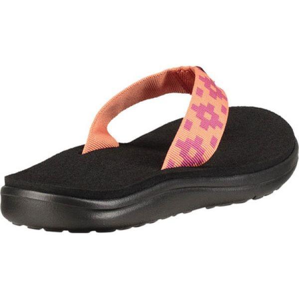 テバ Teva レディース ビーチサンダル シューズ・靴 Voya Flip Flop Maya Check Flamingo Textile