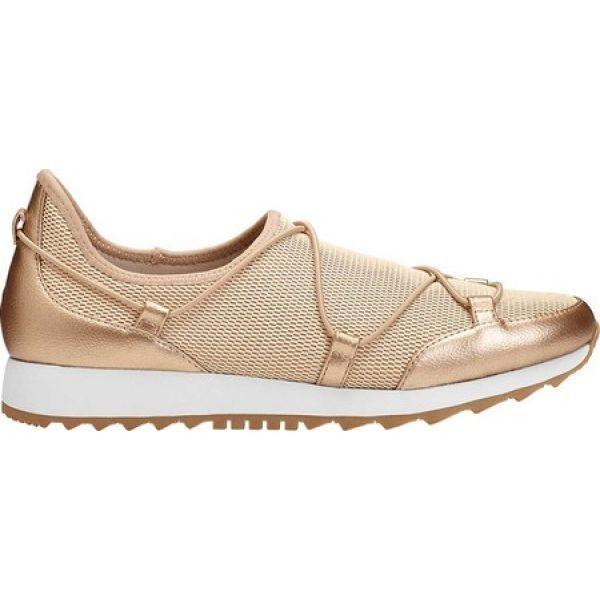 エアロソールズ Aerosoles レディース スリッポン・フラット シューズ・靴 Flashy Slip On Sneaker Gold Fabric/Faux Leather