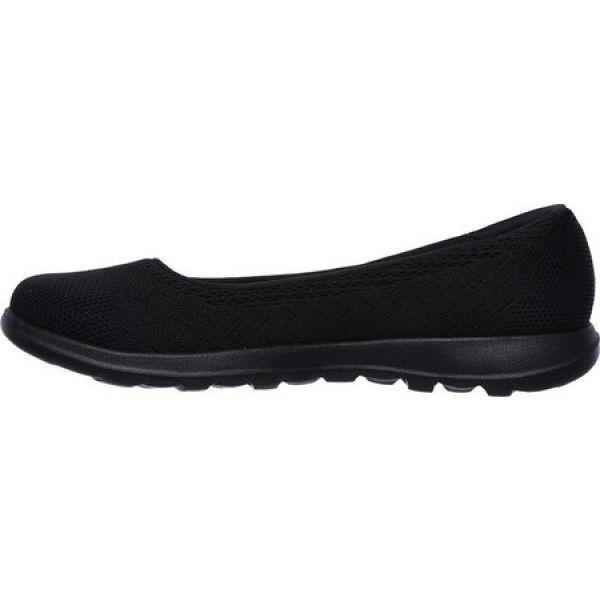 スケッチャーズ レディース スリッポン・フラット シューズ・靴 GOwalk Lite Skimmer Black/Black