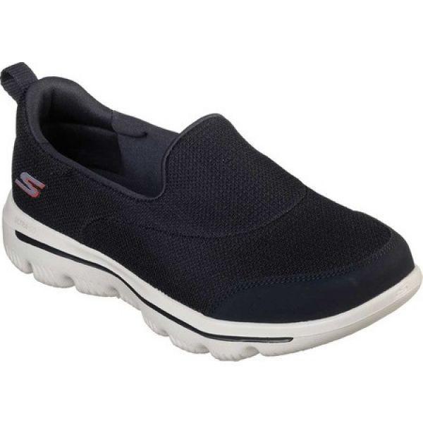 スケッチャーズ レディース スリッポン・フラット シューズ・靴 GOwalk Evolution Ultra Rapids Slip-On Shoe Navy/White