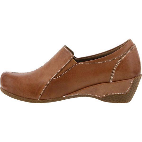 スプリングステップ レディース クロッグ シューズ・靴 Agacia Closed-Back Clog Tan Leather