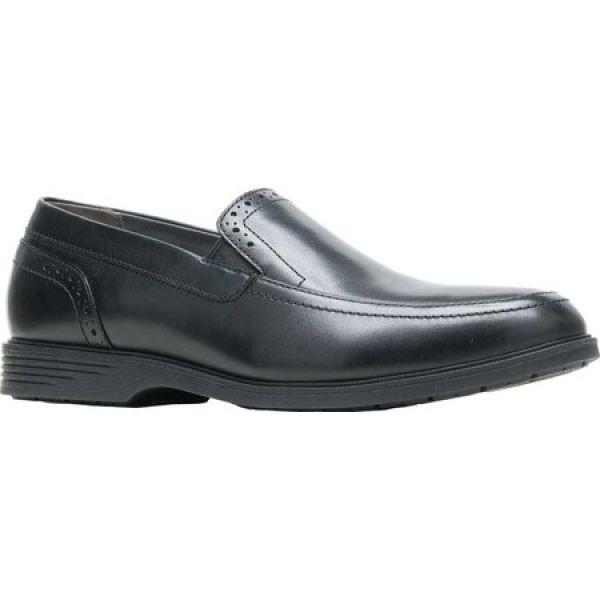 ハッシュパピー メンズ スリッポン・フラット シューズ・靴 Shepsky Slip-On Black Full Grain Leather fermart-shoes