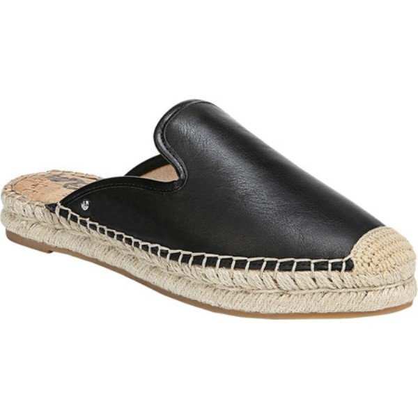 サム エデルマン レディース エスパドリーユ シューズ・靴 Kerry Espadrille Mule Black Nappa Leather