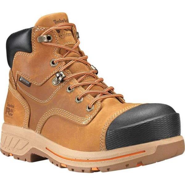 ティンバーランド Timberland PRO メンズ ブーツ ワークブーツ シューズ・靴 Helix HD 6' Composite Toe Work Boot Distressed Wheat Full Grain Leather