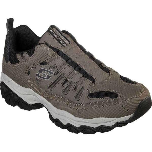 スケッチャーズ Skechers メンズ ランニング・ウォーキング スリッポン・フラット シューズ・靴 After Burn M. Fit Slip On Walking Shoe Brown