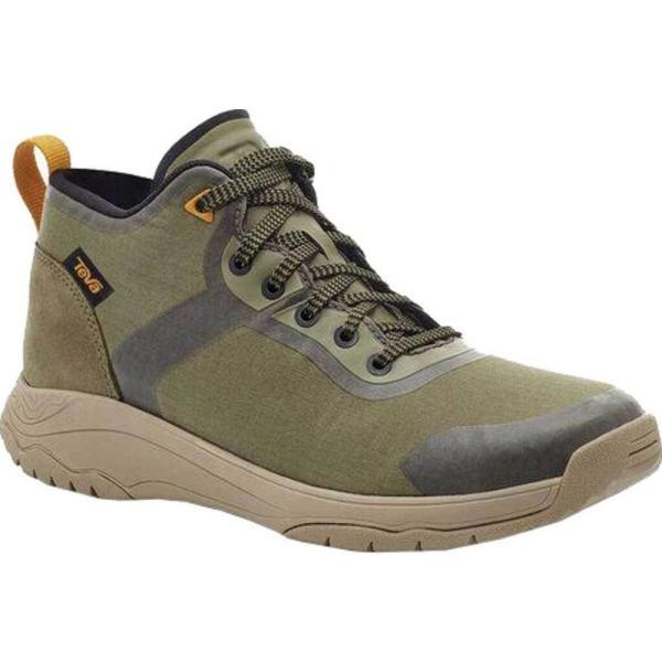 テバ Teva レディース ハイキング・登山 スニーカー シューズ・靴 Gateway Mid Hiking Sneaker Burnt Olive Recycled Polyester/Suede