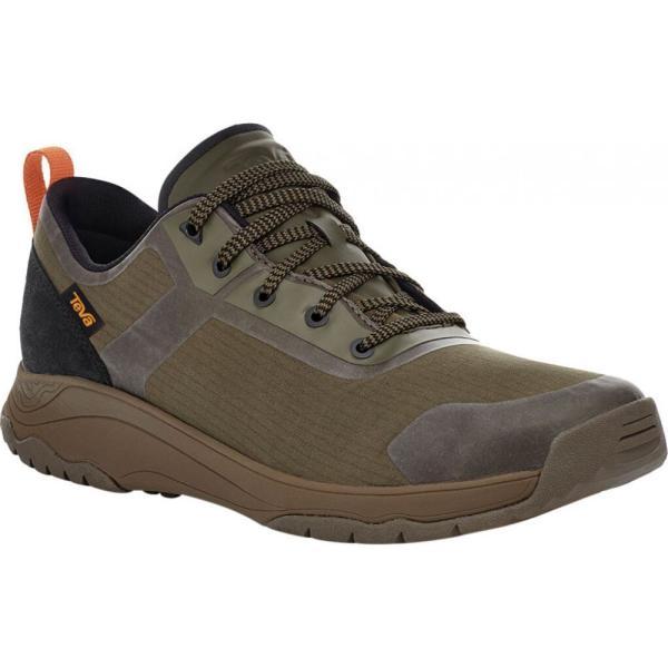 テバ Teva メンズ ハイキング・登山 ローカット スニーカー シューズ・靴 Gateway Low Hiking Sneaker Dark Olive Recycled Polyester/Suede