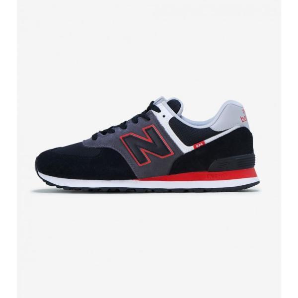 ニューバランス New Balance メンズ ランニング・ウォーキング シューズ・靴 M574 Black/Red