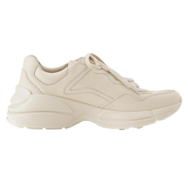 【即納】グッチ Gucci メンズ スニーカー シューズ・靴 Rhyton Leather Sneaker IVORY ロゴ fermart-shoes 04