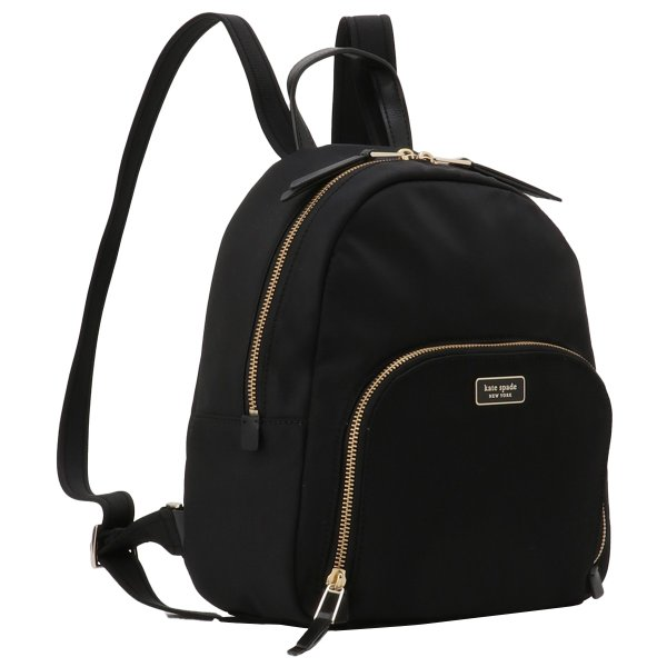 【即納】ケイト スペード Kate spade レディース バックパック・リュック バッグ Dawn Medium Backpack BLACK ロゴ スペード柄裏地|fermart-shoes