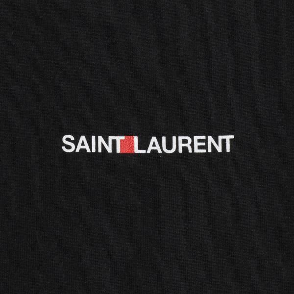 【即納】イヴ サンローラン Saint Laurent メンズ Tシャツ トップス Crew Neck Logo Tee 464572 BLACK クルーネック ロゴプリント fermart-shoes 03
