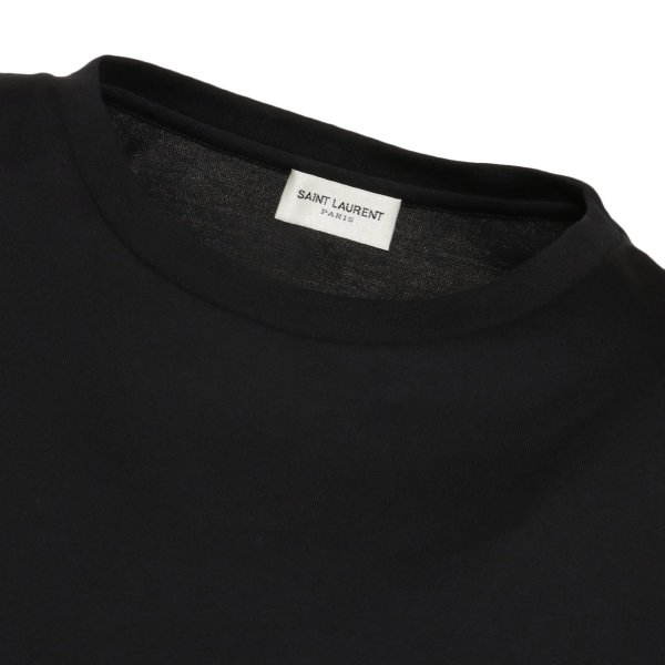 【即納】イヴ サンローラン Saint Laurent メンズ Tシャツ トップス Crew Neck Logo Tee 464572 BLACK クルーネック ロゴプリント fermart-shoes 04