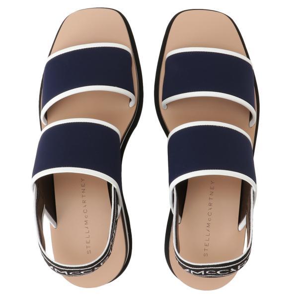 【即納】ステラ マッカートニー Stella McCartney レディース サンダル・ミュール シューズ・靴 Open Toe Sandal 800016 BLACK ストライプ エリス|fermart-shoes