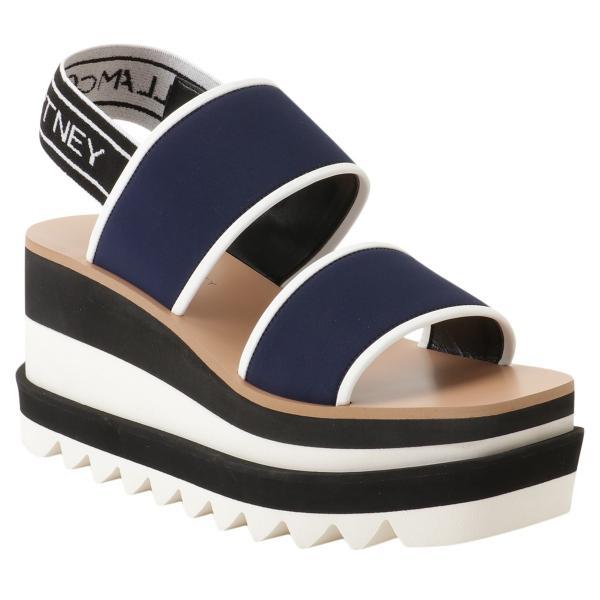【即納】ステラ マッカートニー Stella McCartney レディース サンダル・ミュール シューズ・靴 Open Toe Sandal 800016 BLACK ストライプ エリス|fermart-shoes|02
