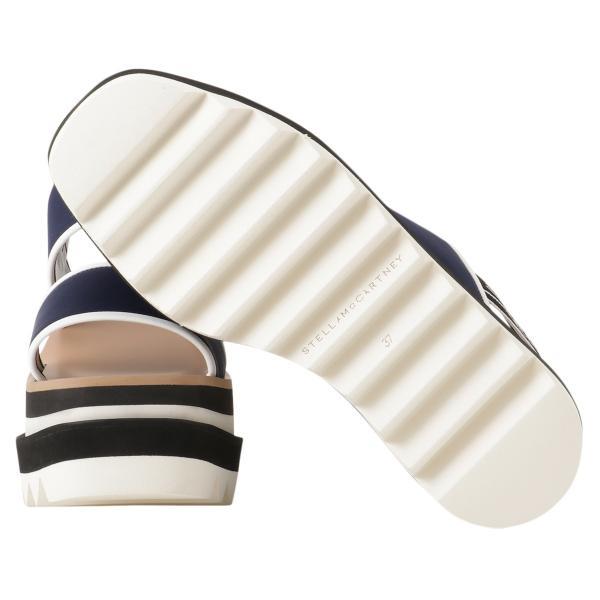 【即納】ステラ マッカートニー Stella McCartney レディース サンダル・ミュール シューズ・靴 Open Toe Sandal 800016 BLACK ストライプ エリス|fermart-shoes|03