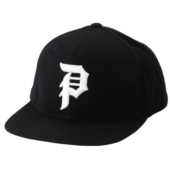 【即納】プリミティブ Primitive ユニセックス キャップ 帽子 CORE DIRTY P SNAPBACK BLACK/WHITE ロゴ スナップバック スナップキャップ|fermart-shoes