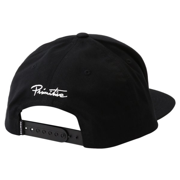 【即納】プリミティブ Primitive ユニセックス キャップ 帽子 CORE DIRTY P SNAPBACK BLACK/WHITE ロゴ スナップバック スナップキャップ|fermart-shoes|02